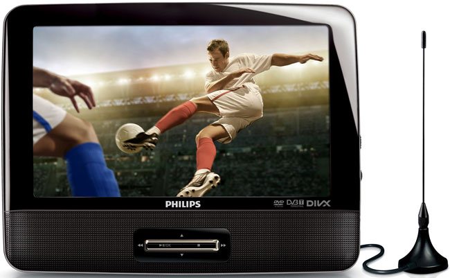 Reproductor DVD portátil con televisión digital PD9003 de Philips 2