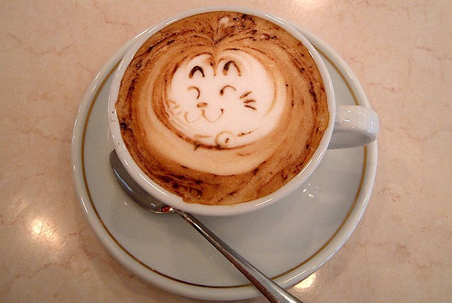 Arte latte gato