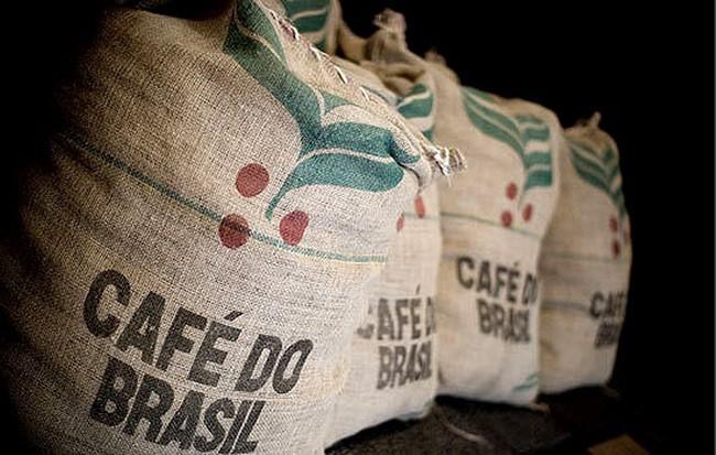 sacos de café de Brasil