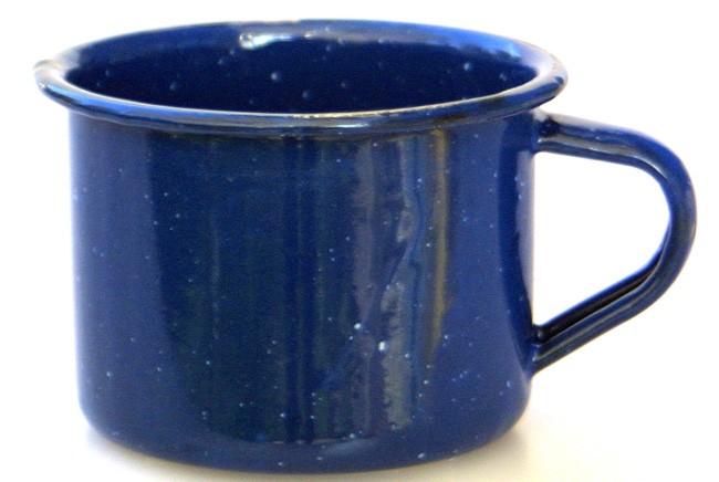 Taza café metálica