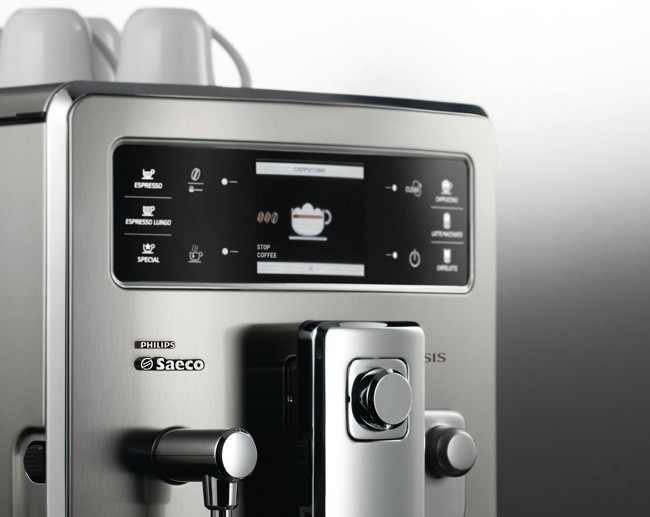 Cafetera Xelsis Acero Inoxidable de Philips detalle
