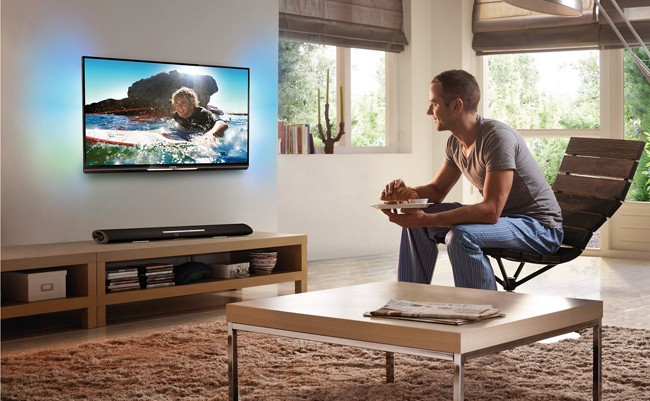 soundbar 5120 de Philips con TV