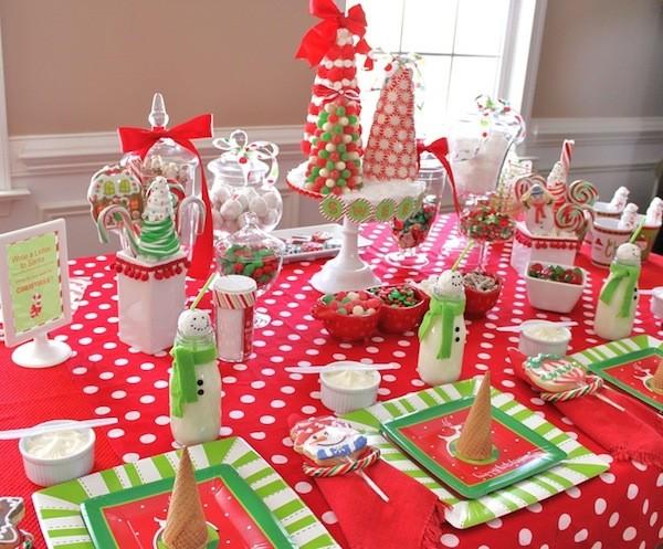 mesa de navidad para nios