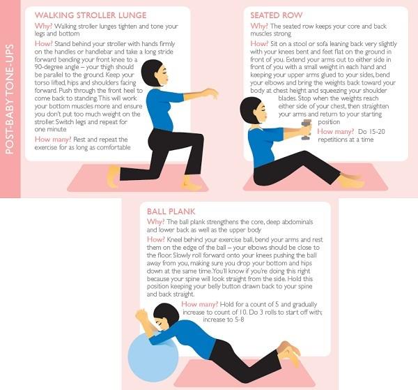 ejercicios postembarazo