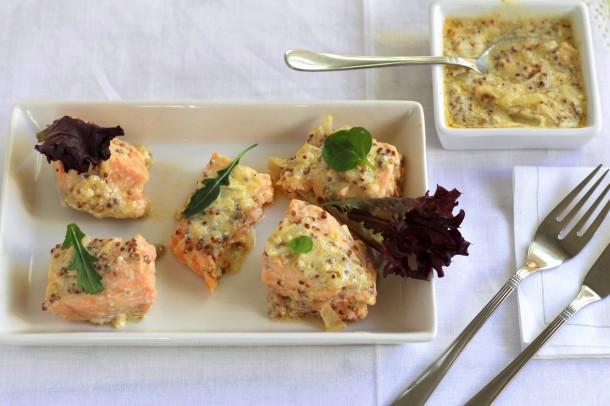 salmon mostaza
