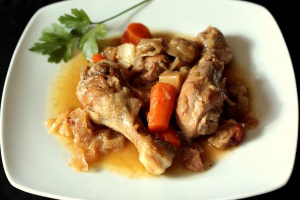 Guiso de pollo casero