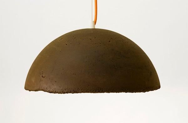 lamparas hechas con posos de cafe