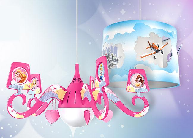 El toque m gico en la decoraci n de la habitaci n de los - Lamparas de techo para ninas ...