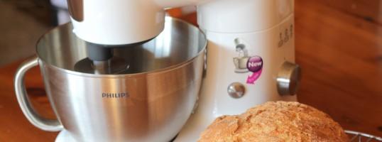 El robot y el pan payés casero