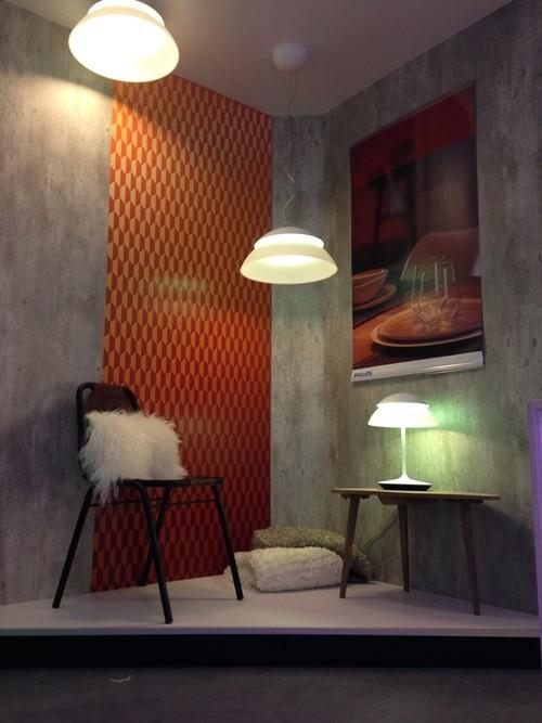 Lámparas decorativas para iluminación en interiores en la Philips Light Gallery