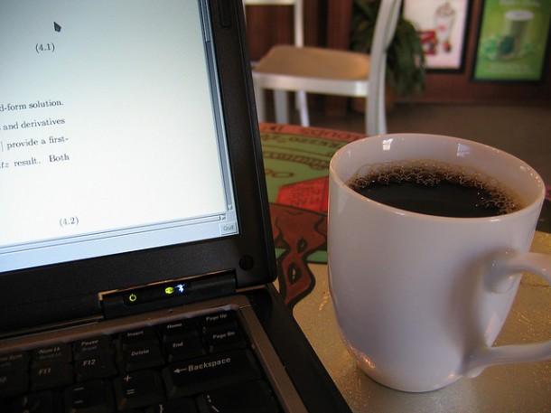 café en el trabajo