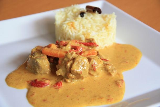 curry en receta
