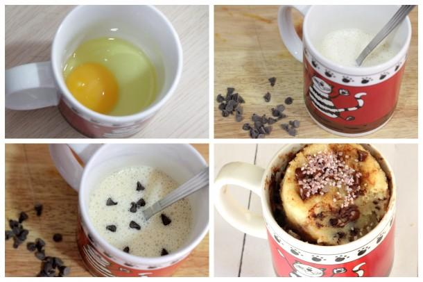 mug cake receta pasos