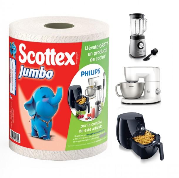 usos del papel de cocina rollo scottex jumbo