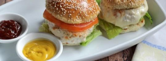 cenas saludables hamburguesas de pollo