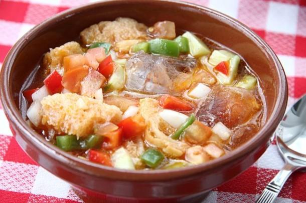 gazpacho en ensalaad