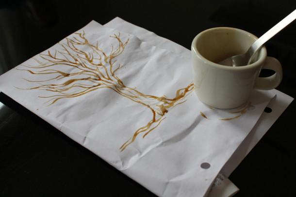 Técnica para pintar con cafe