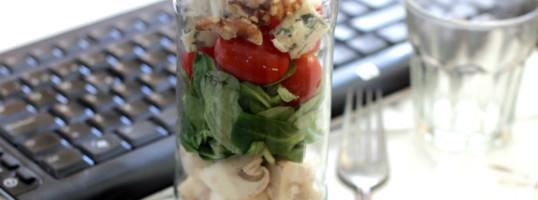 ensaladas en frasco