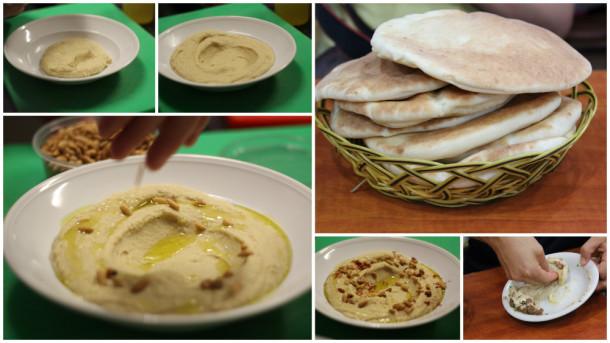 receta de hummus decoración