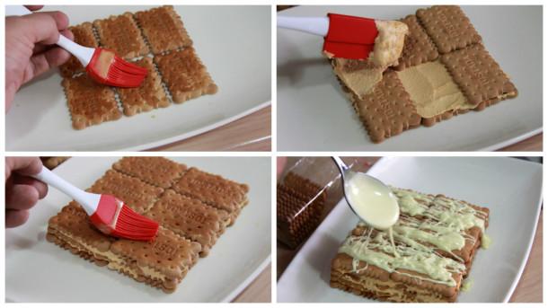tarta de galletas y crema de cafe