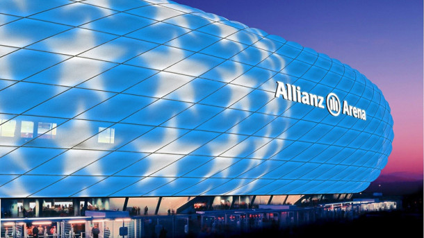 Allianz Arena iluminado por Philips