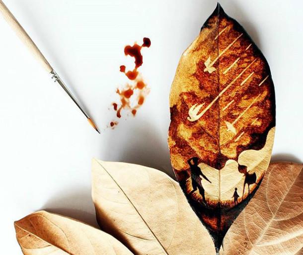 Arte con restos de café