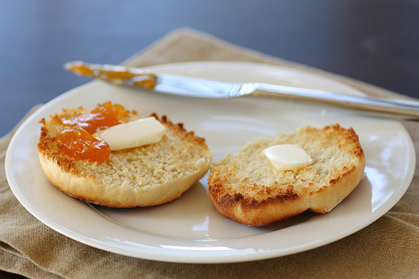 Muffins ingleses en la tostadora