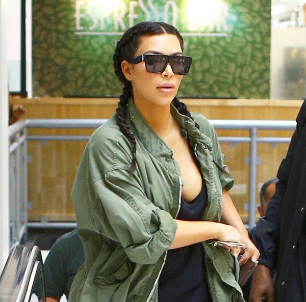Asi Se Hace La Trenza Boxeador Que Luce Kim Kardashian A Juego Con