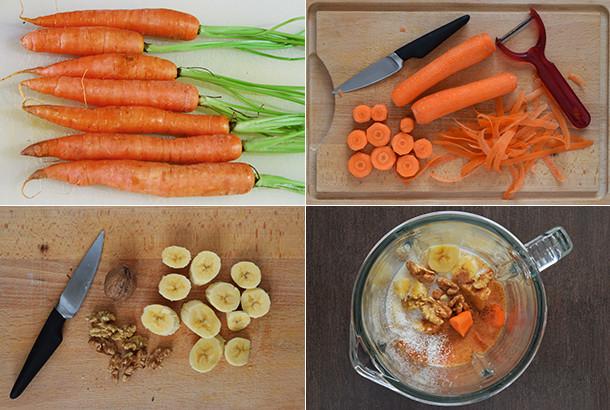 Batido de tarta de zanahoria