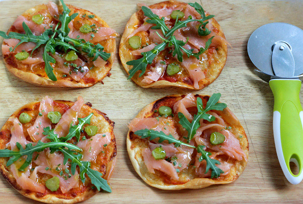 Pizzas con obleas