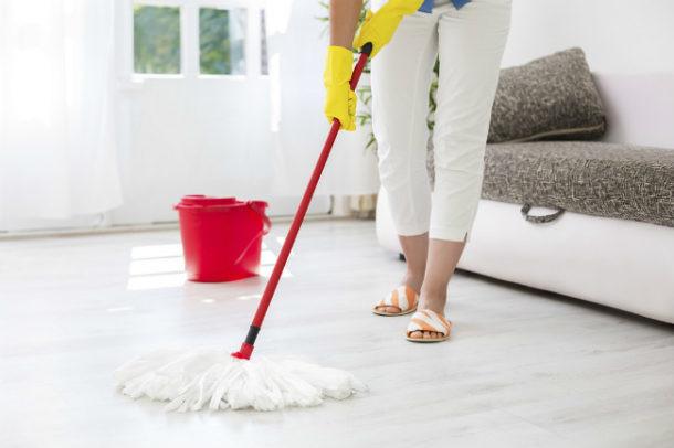 Limpieza de casa antes de vacaciones