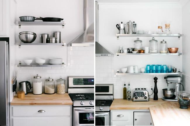 Tu cocina a la moda la tendencia de las estanter as for Estanterias pared cocina