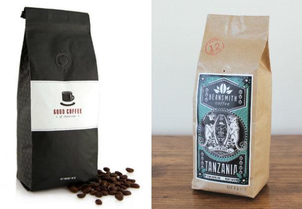Bolsas de café con agujero