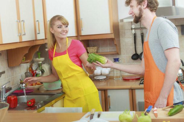 Reparto de las tareas del hogar en pareja