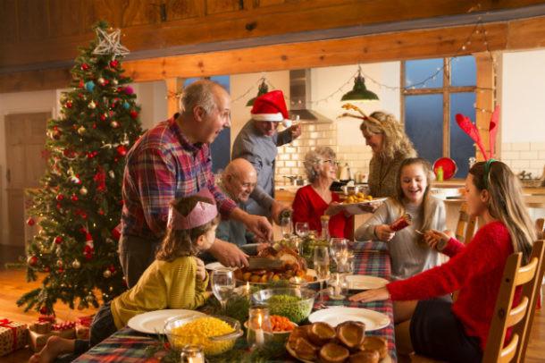 Anfitrión en navidad