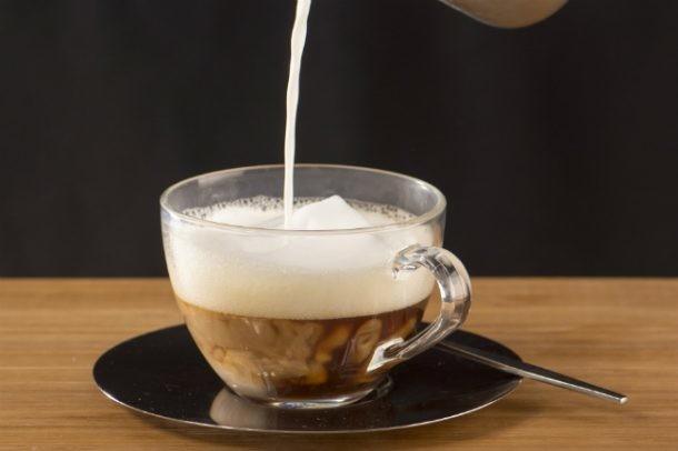 Cafe con leche para una dieta
