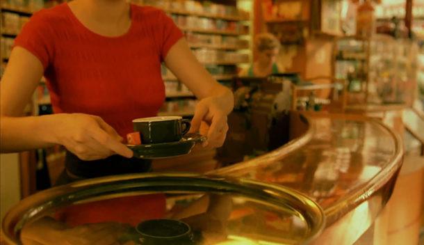 Amélie con café