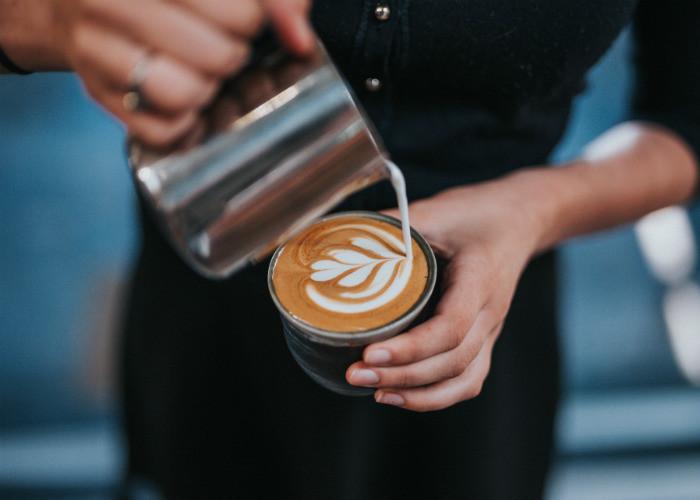 Café en el restaurante
