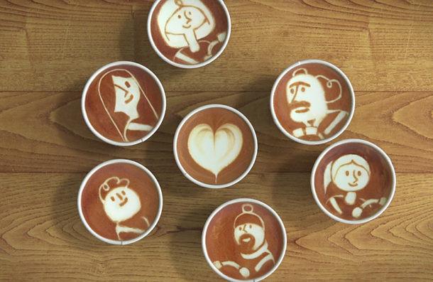Historia animada de café latte