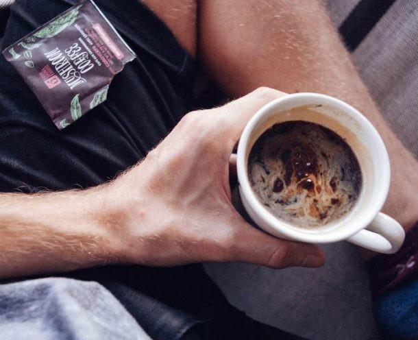 Café con setas