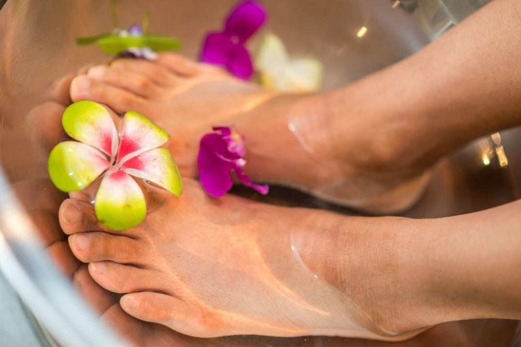 spa de pies en casa