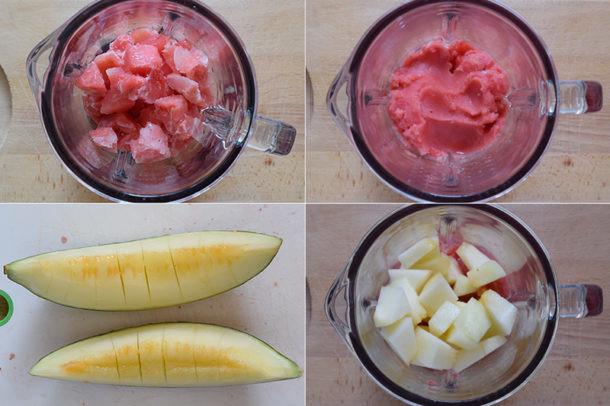 Smoothie de sandía y melón
