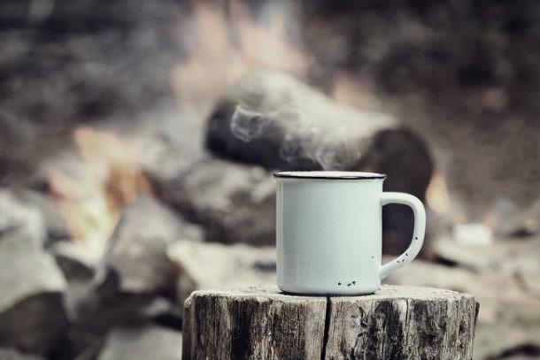 Resultado de imagen para taza metalica para cafe