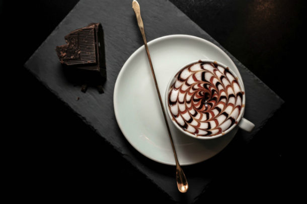 siropes y salsa de caramelo para el café