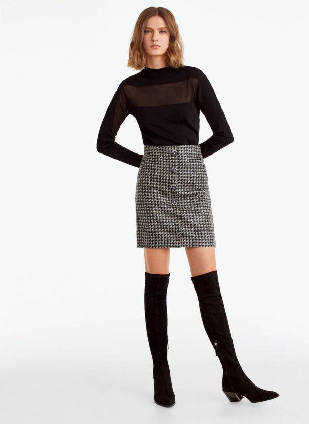 Tendencias otono 2019: minifalda y botas altas