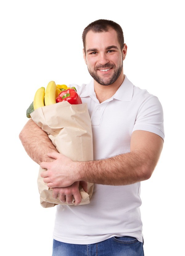 hombre frutas verduras