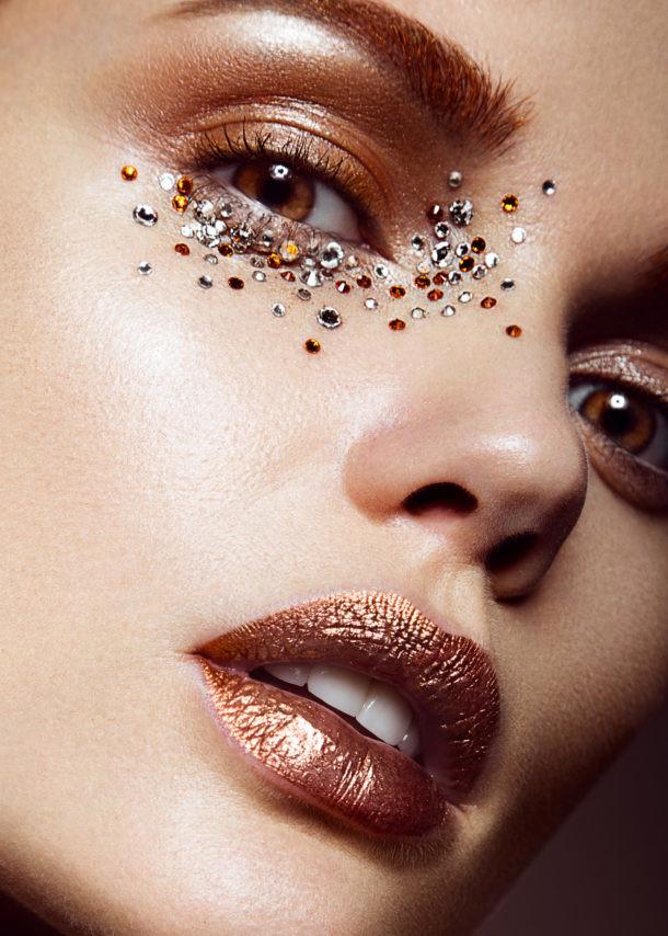 maquillaje cristales