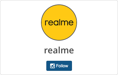 realme en Instagram