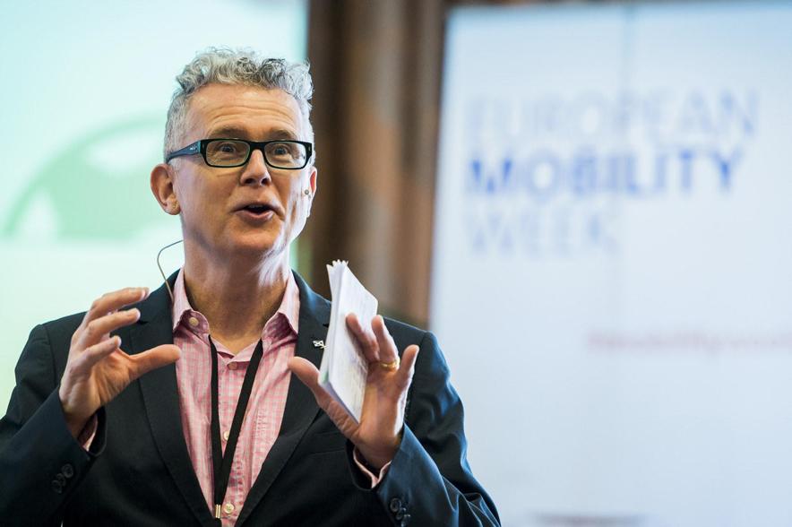 Charla en los grupos de trabajo de la European Mobility Week (20 de abril de 2016, Bruselas). Fuente: Flickr/EMW
