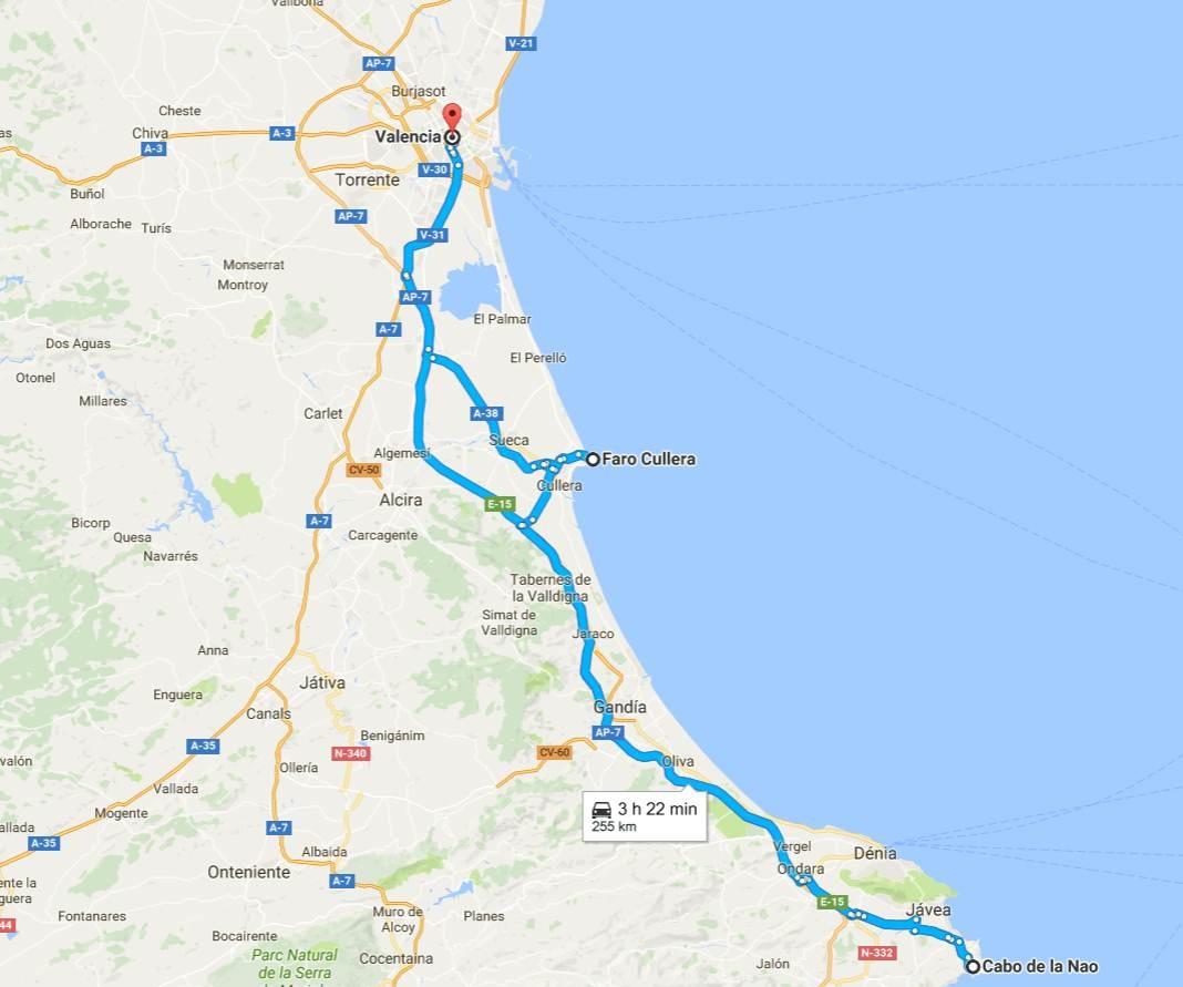 Ruta por los faros más bellos de la Comunidad Valenciana